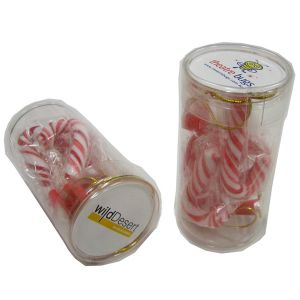 Pet Tube Filled with Candy Canes X6