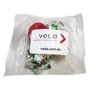 Cello Bag Filled with Christmas Chocolates 30G