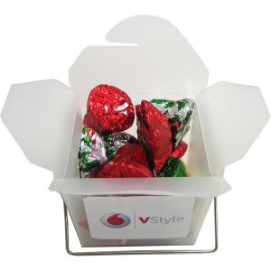 Frosted Noodle Box Filled with Christmas Chocolates 85G