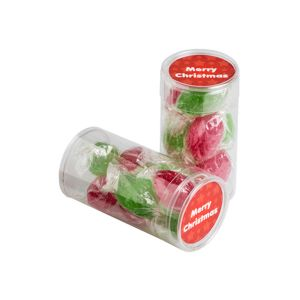 Pet Tube Filled With Christmas Boiled Lollies X8