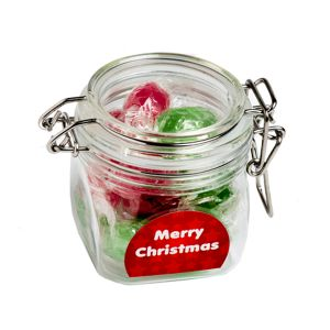 Christmas Twist Wrapped Boiled Lollies In Canister 120G