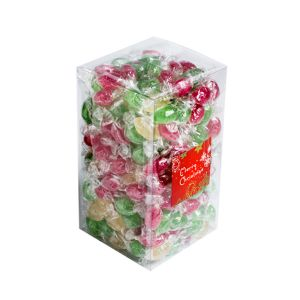 Big PVC Box Filled With Christmas Twist Wrapped Boiled Lollies 2Kg