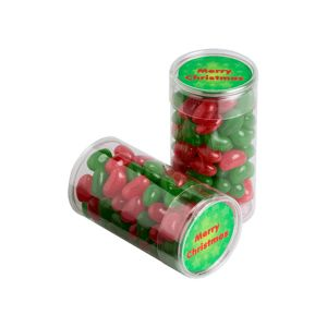 Pet Tube Filled With Christmas Jelly Beans 100G