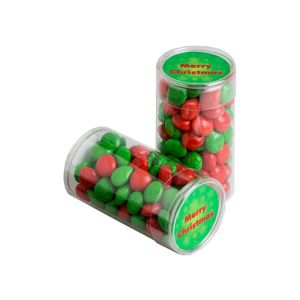 Pet Tube Filled With Christmas Chewy Fruits (Skittle Look Alike) 100G