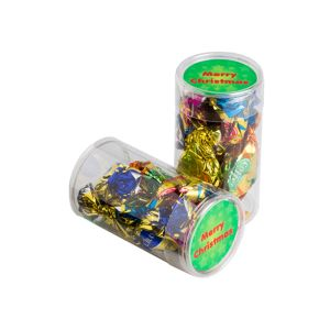 Pet Tube Filled With Christmas Mixed Eclairs X7