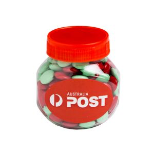 Plastic Jar Filled With Christmas Choc Beans 170G