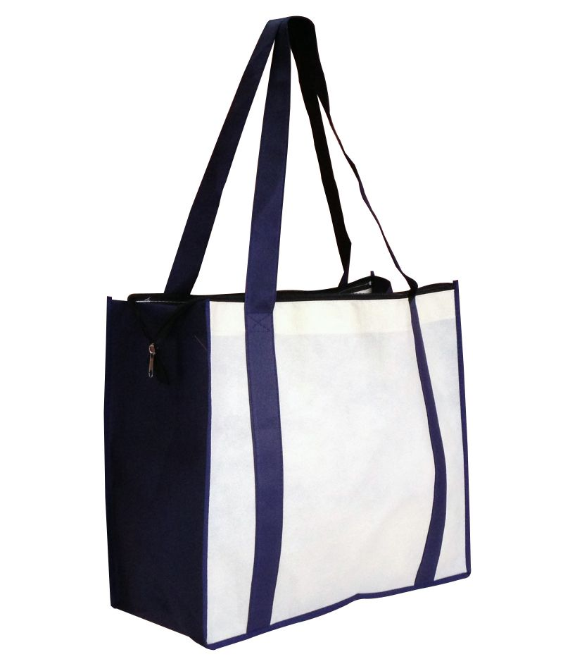 Nwb017   Non Woven Large Zipped Shopping Bag